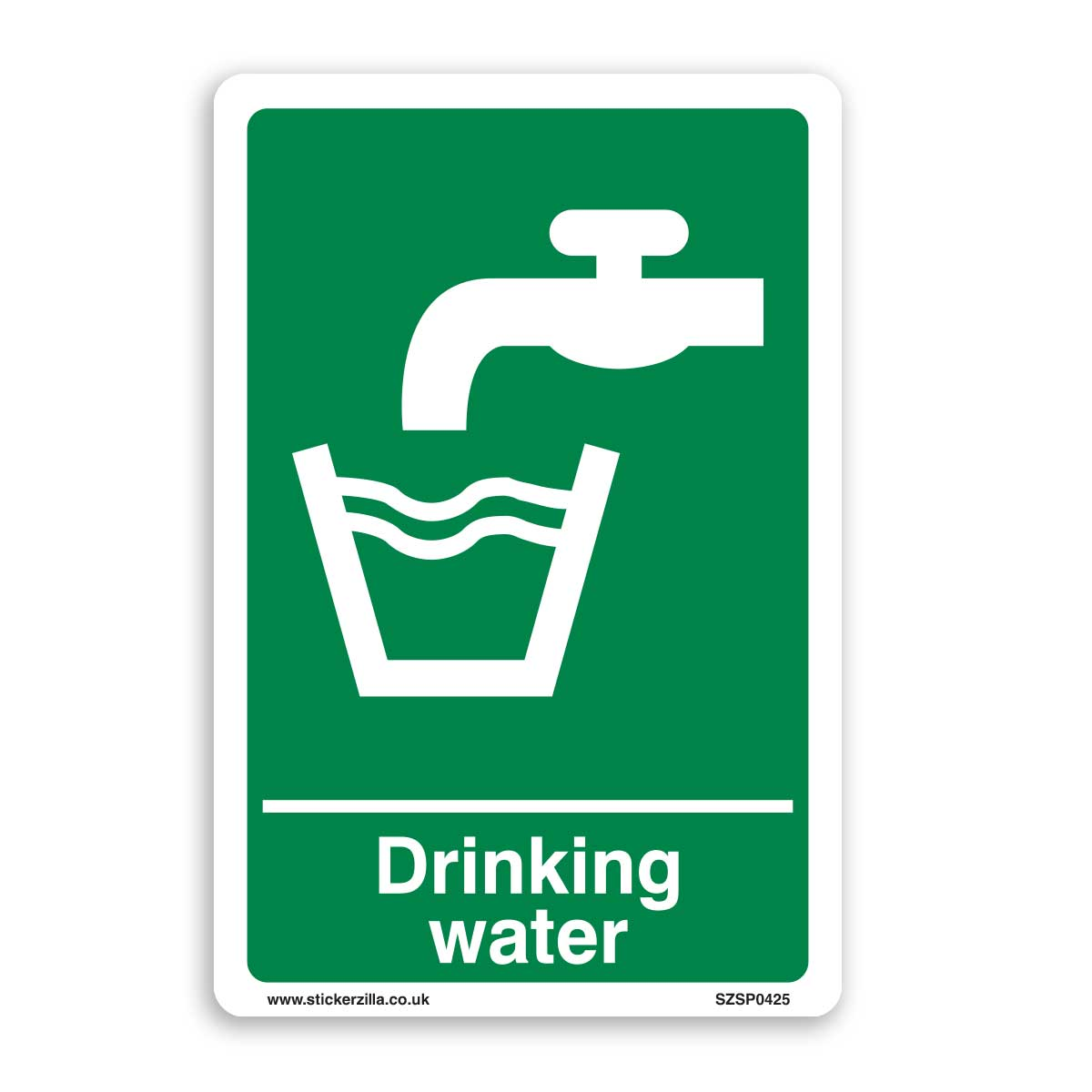 Drinking Water Sign - [A4 200mm x 300mm] Self Adhesive ...