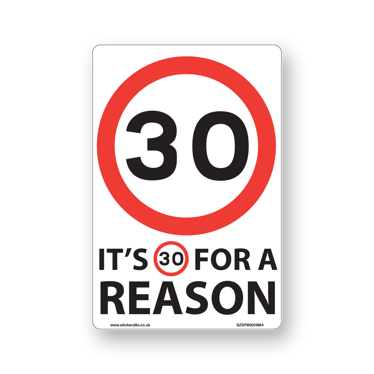 20 Mph Speed Signs White Background Ideal For... 9 X Pack - A4 Vinyl Stickers