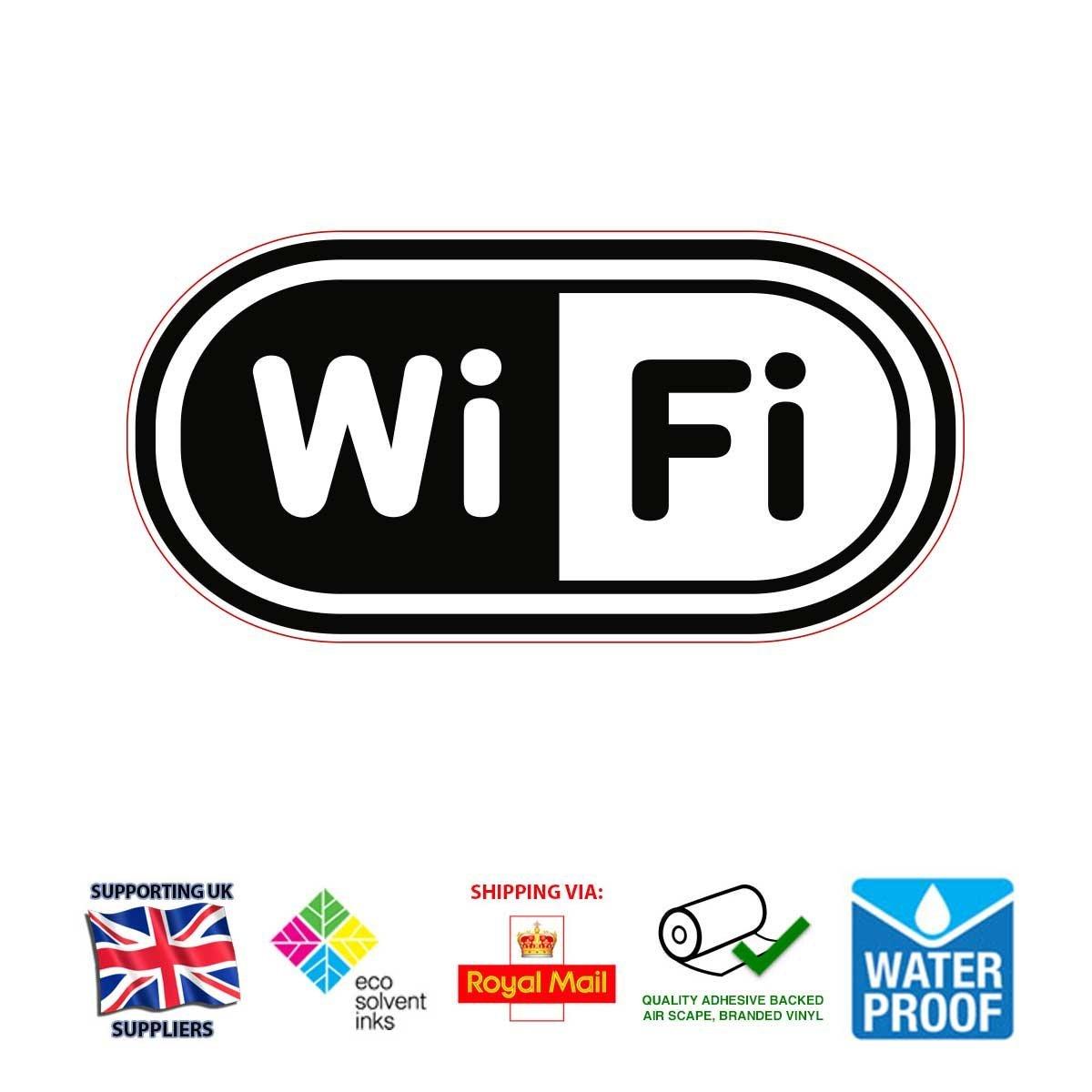 Free wifi sticker 2 x sticker kit 17cm x 20cm ideal for cafe home biocorpaavc