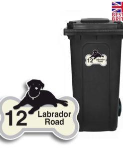 8 Custom Wheelie Bin Stickers Street Name Address Number Waterproof Z14